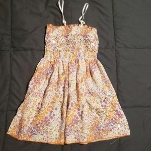 Floral chiffon sequins dress